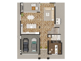 Color Floor Plan Rendering Services For Home Builders In Fort Lauderdale Florida JMSD Consultant - 3D Architectural Visualization Studio ArtworkOther artistic objects Engineered Wood Brown