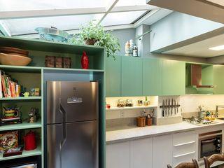 Ambientta Arquitetura Ausgefallene Küchen Grün
