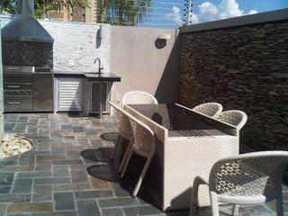 CelyGarciArquitectos Balcones y terrazas de estilo moderno Pizarra Multicolor