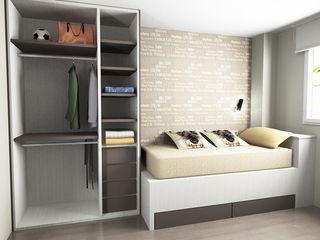 SERRANOS Studio Small bedroom Engineered Wood Beige