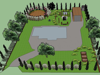 Contemporary Rustic Garden in a Windy Location The Rooted Concept Garden Designs by Deborah Biasoli Jardin rustique
