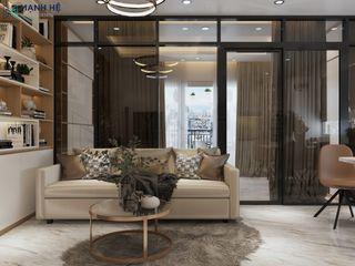CĂN HỘ STUDIO RICHMOND 40M2 - 1PN - CHỊ LY Công ty Cổ Phần Nội Thất Mạnh Hệ Phòng khách