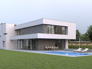 Villa DC I Fichtner Gruber Architekten Villa Beton