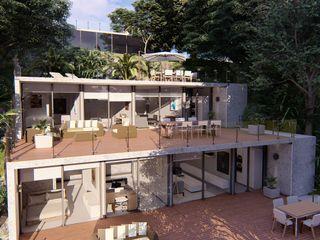 LLACAY arquitectos モダンな 家 鉄筋コンクリート 木目調