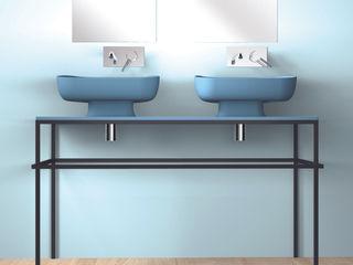 eto' Salle de bain moderne Céramique Turquoise