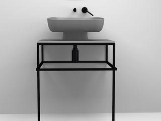 eto' Salle de bain moderne Céramique Gris