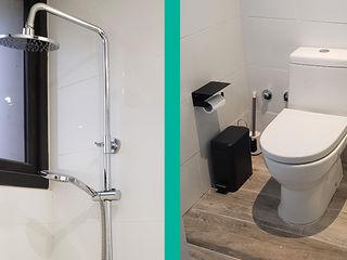 Remodelación de baños Constructora CYB Spa Baños de estilo moderno