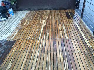 Deck y mantenimiento Onice Pisos y Decoracion Condominios Madera