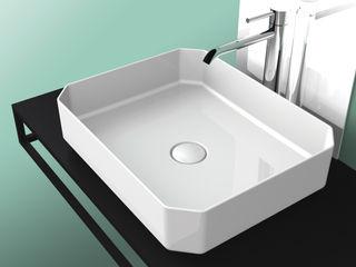 eto' Salle de bain moderne Céramique Blanc