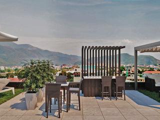 Esplanada exterior duplex - Espinho Alpha Details Jardins modernos