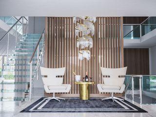 Moradia em Francelos Alpha Details Corredores, halls e escadas modernos