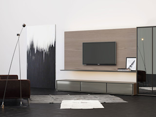 ITALIANELEMENTS Living roomTV stands & cabinets MDF Grey