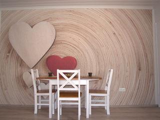Neugestaltung einer 60 qm Wohnung wohnausstatter Skandinavische Esszimmer Holz Beige