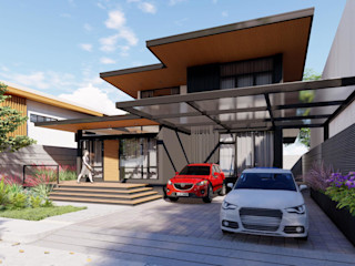Structura Architects Casas de estilo moderno Negro