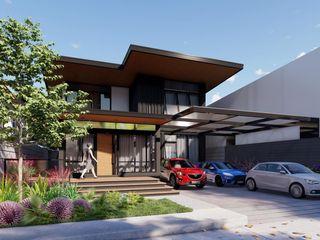 Structura Architects Casas de estilo moderno Hormigón Negro