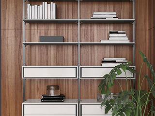 ITALIANELEMENTS Living roomShelves Aluminium/Zinc White