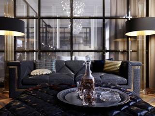 Апартаменты на Софийской набережной STUDIO 57 Гостиная в классическом стиле