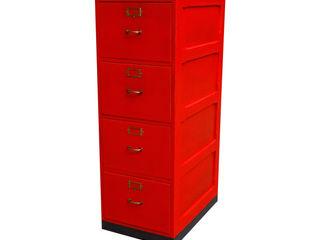 Office Drawer Antik & Kunst Nermesan ArbeitszimmerAufbewahrungen Holz Rot