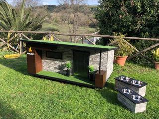 """""""Come casa"""" - Cuccia di design da esterno personalizzata come casa Pet House Design® Casetta da giardino Legno"""