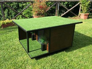 Cuccia di design da esterno su misura - Woody Pet House Design® Casetta da giardino Legno Marrone