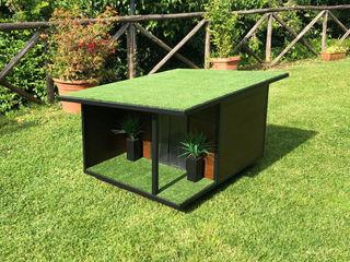 Cuccia di design da esterno su misura - Woody Pet House Design® Giardino roccioso Legno Marrone