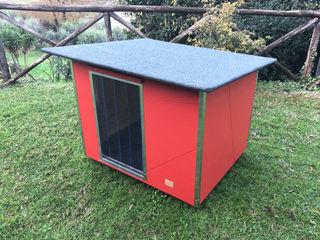 Cuccia per cani da esterno coibentata - Basic Pet House Design® Giardino anteriore Legno Rosso
