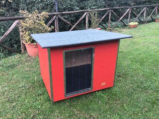 Cuccia per cani da esterno coibentata - Basic Pet House Design® Casetta da giardino Legno Rosso