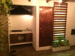 IDEA Studio Arquitectura Rustic style balcony, veranda & terrace