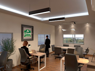 ANBA interiorismo Modern Study Room and Home Office