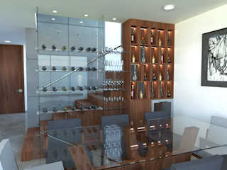 ANBA interiorismo Living roomShelves