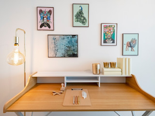 Cornelia Augustin Home Staging Рабочий кабинет в стиле модерн Бирюзовый