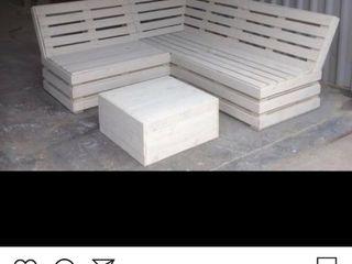 Seating area Pallet furniture uk Garden Furniture Wood Beige