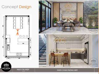 Thiết kế thi công nhà phố đẹp 3 tầng hiện đại NEOHouse