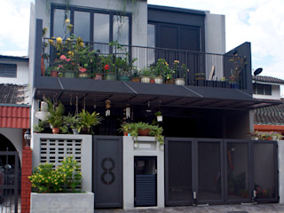 J HOUSE N O T Architecture Sdn Bhd Rustic style house