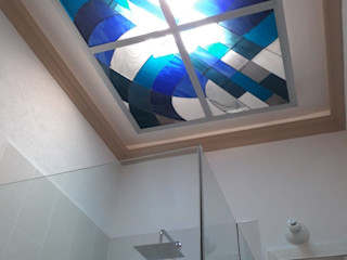 MKVidrio Salle de bainDécorations Verre Bleu