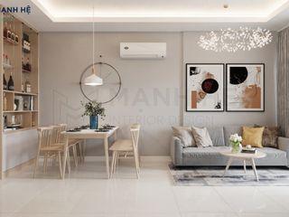 CĂN HỘ MOONLIGHT 51M2 HIỆN ĐẠI - 2 PN - CHỊ LAN Công ty Cổ Phần Nội Thất Mạnh Hệ Phòng khách