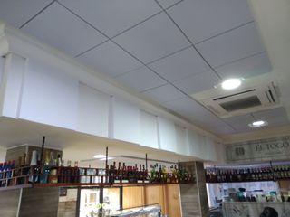 Cafeteria_Instalacion ac´ustica_EL Togo II. Deac´ustica_Silenciamos al ruido. Murcia Deacustica Gastronomía de estilo moderno