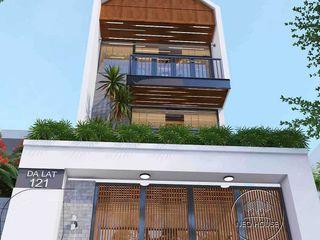 Thiết kế thi công mặt tiền nhà phố 5m hiện đại 3 tầng tại Đà Lạt NEOHouse