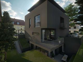 Stadtvilla K2 Peter Stasek Architects - Corporate Architecture Villa Beton Schwarz