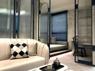迎接城市微光|半透光蜂巢簾.訂製紗簾 MSBT 幔室布緹 客廳 複合木地板 Grey
