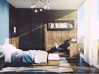 Dolomites Custom Bedroom and Terrace Mario Bernaudo Camera da letto in stile scandinavo Legno