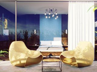 Dolomites Custom Bedroom and Terrace Mario Bernaudo Balcone, Veranda & Terrazza in stile scandinavo Pietra