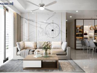 CĂN HỘ MELODY - 95M2 - CHỊ THỦY Công ty Cổ Phần Nội Thất Mạnh Hệ BedroomBedside tables Cao su Green