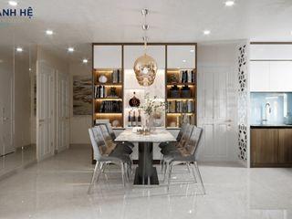 CĂN HỘ MELODY - 95M2 - CHỊ THỦY Công ty Cổ Phần Nội Thất Mạnh Hệ Living roomSide tables & trays Gạch Transparent