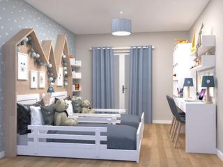 Oficina Rústica Habitaciones infantilesCamas y cunas Madera