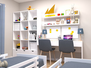 Oficina Rústica Habitaciones infantilesAccesorios y decoración Madera