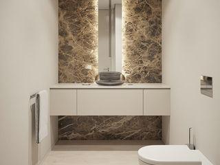 Montevideu Six Villas Padimat Design+Technic Casas de banho modernas Cerâmica Branco
