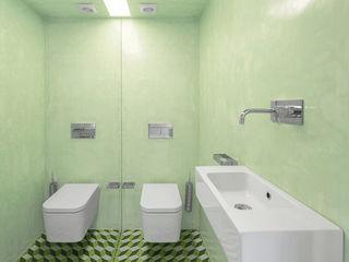 Apartamento Jardim das Amoreiras Padimat Design+Technic Casas de banho modernas Cerâmica Verde
