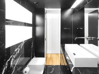 Apartamento Jardim das Amoreiras Padimat Design+Technic Casas de banho modernas Cerâmica Preto
