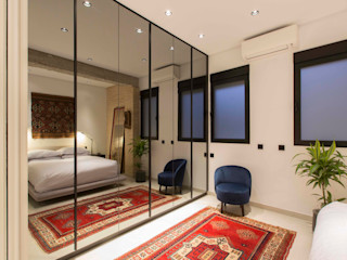 Valencia Architects Modern style dressing rooms Glass Black